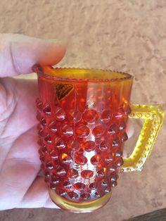 Fenton Amberina Bubble Glass Small Pitcher by JGallegosArt on Etsy