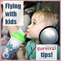 Survival tips for flying with babies & small children @ Mums Make Lists #travel