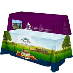 All Over Dye Sub Table Cover - Flat Poly 3- Sided, Fits 8 Table