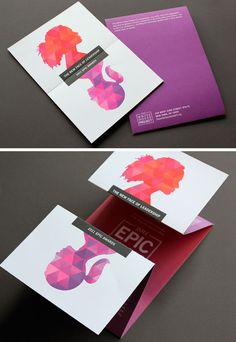 The White House Project, a brochure that folds differently and uses bold colors.