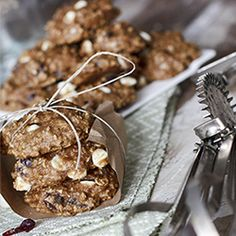 """Healthy"" Cranberry Oatmeal Cookies with White Chocolate.      I just made them and they are GREAT!!"