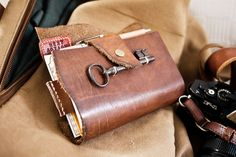 GTD Index + Notebook + leather cover + antique key by Patrick Ng, via Flickr