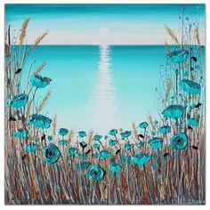 Seascape Paintings, Paintings For Sale, Original Paintings, Original Art, Living Room Canvas, Canvas Art, Canvas Ideas, Painting Canvas, Texture Painting