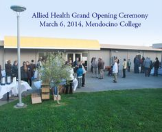 The crowd enjoying refreshments at Mendocino College's Allied Health Grand Opening Ceremony March 6, 2014