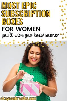 Best Subscription Boxes for Women - With a focus on self-care and mental wellbeing, these are the best 17 monthly lifestyle subscription boxes! You'll find items on spiritual growth, relieving stress, and more. Perfect birthday or Christmas gift for your mom, wife, or any woman in your life! #subbox #monthlybox #selfcaretips #selfcareadvice Subscription Boxes