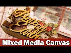 Christmas mixed media canvas - YouTube