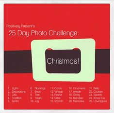 Christmas Photo Challenge - a great source for beginners to December Daily Christmas Time Is Here, Merry Little Christmas, Christmas And New Year, All Things Christmas, Winter Christmas, Christmas 2014, December Daily, Winter Holidays, Holidays And Events