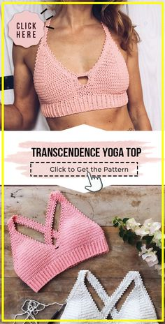 Crochet Summer Tops, Crochet Halter Tops, Easy Crochet, Diy Crochet Bralette, Crochet Bikini Pattern, Free Crochet Top Patterns, Crochet Bikini Top, Crochet Clothes For Women, Crochet Fashion