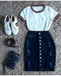 """Everything about """"Teenager Outfits"""" Teen Fashion Outfits, Cute Fashion, Modest Fashion, Outfits For Teens, Cute Modest Outfits, Stylish Outfits, Cool Outfits, Summer Outfits, Mode Chic"""