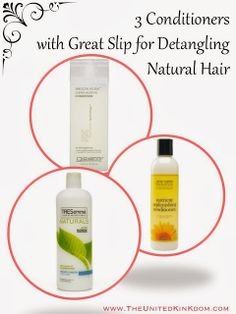 3 CONDITIONERS WITH GREAT SLIP (for under £10!)