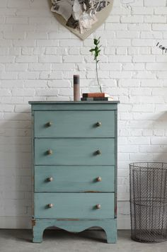 Refurbished dresser from new book Furniture Makeovers