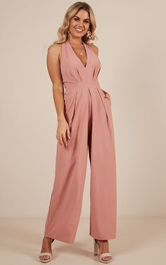 100c8ef4833c Stand out from the crowd in the Suddenly I See jumpsuit in blush! This is