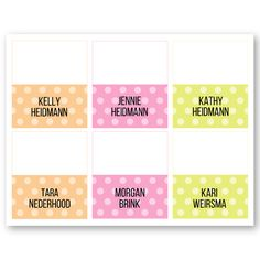 Pop & Glow Name Tags to perfectly go with the new Mary Kay products! Customizable the names so you don't forget your guests names! Find it on www.thepinkbubble.co!