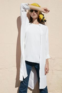 Kyo Tunic - Arctic White | Emerson Fry