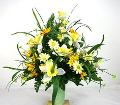 Gorgeous Spring Cemetery Flower Arrangement by Crazyboutdeco