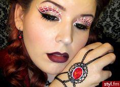 #halloween #makeup #spider webs
