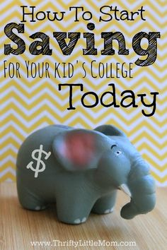 How To Start Saving For Your Kid's College Today.  A really simple, free to you, way to save for you save 5% at at time for your child's college education. #sponsored