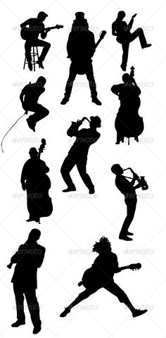 Musician Silhouettes - Characters Vectors