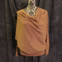 Gold Dolman Sweater Sz S by A. Maglia Gold Dolman Sweater Sz S by A. Maglia. Worn once to a wedding. Great condition A.Maglia Sweaters Cowl & Turtlenecks