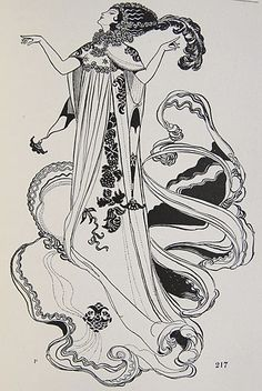 René Bull, Salome, from The Russian Ballet (1913)