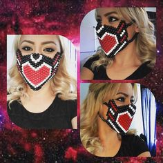 Heart Kandi mask available and ready to ship on my etsy shop ((link on bio))…