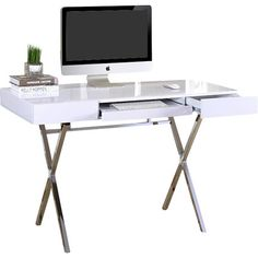 Found it at Wayfair Supply - Cevallos Computer Desk with 2 Drawers