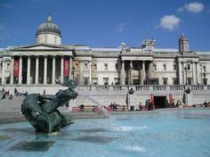 Trafalgar Square, Nacional Galería. Londres