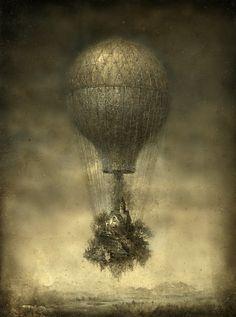 nomad, wanderlust, hot air balloon