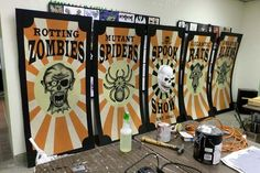 Creepy Circus Posters for Outdoor Halloween Display