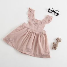 Cute Embroidery Toddler Girls Backless Casual Princess Dress For is cheap, come to NewChic and buy cute flower girl dresses now! Toddler Girl Outfits, Toddler Dress, Toddler Girls, Cute Flower Girl Dresses, Girls Dresses, Rustic Outfits, Thing 1, Cute Embroidery, Pinafore Dress