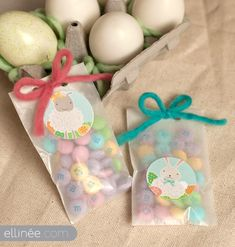 Easter Stickers: lamb and bunny