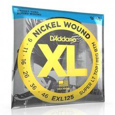 D'Addario XL : Cordes pour guitare électrique EXL125 tirant 9 46