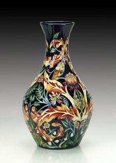 Moorcroft Pottery Owl & Pigeon Designer Nicola Slaney