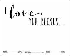Alisha gregson: I love you because... printable