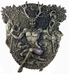 Experts-Eclectic Artisans: Cernunnos Plaque-Stone Finish