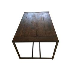 Reclaimed Wood Industrial Dining Room Table