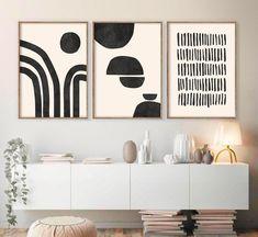 Modern Art Prints, Modern Wall Art, Unique Wall Art, Mid-century Modern, Black Art, Black Wall Art, Wall Art Sets, Wall Art Decor, Mid Century Modern Art