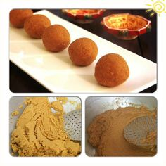 Besan ladoo is a every body's favourite. Best Besan ladoo that i have had so far is the prsadam that is offered in SANKAT MOCHAN TEMPLE in Varanasi and my mom's. After her visit to Lucknow my daughter has been asking for besan ladoos. So here's the simple recipe for awesome ladoos.