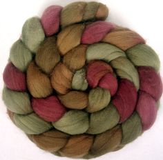 Colour, colour, colour! // Handpainted Polwarth Wool Roving  4 oz by GreenwoodFiberworks, $16.00