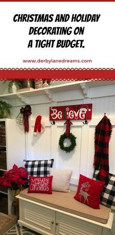 Inexpensive ways to decorate your home for the holidays. DIY projects, and great buys at places like Target, Kirklands, and Michaels.