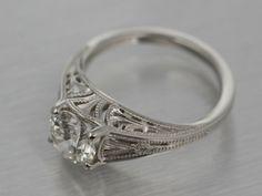 Deco Ginkgo Filigree Ring