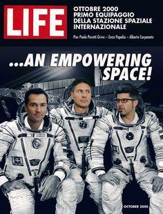 2000: Pierpaolo Peretti Griva, Enzo Papalia, Alberto Carpaneto e il primo equipaggio della  Stazione Spaziale Internazionale