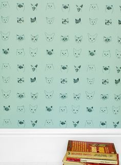 Papier-peint enfant Cats par Elisa Fricker cat wall paper from thecollection.fr.   claradeparis.com ♥