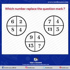 Which number replace the question mark ? Free online practice of puzzles and riddles problems with solutions for all competitive exams. Brain Teasers Riddles, Brain Teaser Puzzles, Number Puzzles, Maths Puzzles, Logic Questions, Logic Math, Logic Problems, Mind Puzzles, Play Quiz