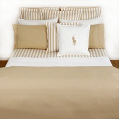 Discover the Ralph Lauren Home Polo Player Resort Sand Duvet Cover - King at Amara