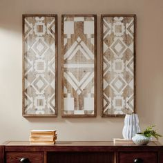 Shop Madison Park Gabbie Natural Wood Wall Decor Set of 3 - On Sale - Overstock - 16071609 Diy Wood Wall, Wooden Wall Decor, Wall Decor Set, Wooden Walls, Metal Walls, Wooden Art, Affordable Wall Art, Panel Wall Art, Wood Plaques
