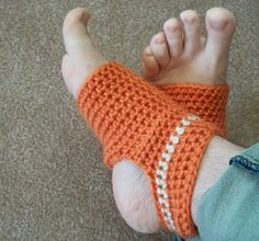 Crochet - yoga socks I want these with toes for that time in Autumn when my toes are cold but my heels get hot.