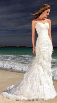 flowy beachy wedding dress