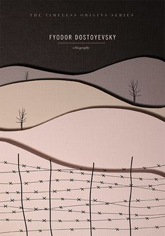Fyodor Dostoyevsky, A Biography. Book Cover Series by Hilary Gaby.