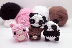 crochet panda pattern kawaii crochet pattern by mohustore on Etsy